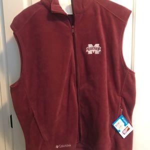 Mississippi State fleece vest